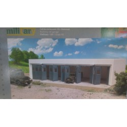 * Herpa 745819  Military or Civilian: Building set Garage, length 260 mm x width 125 mm x height 60 mm
