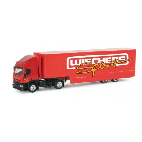 """* Herpa Trucks 038119  Iveco ET HD racing transporter semitrailer """"Wiechers"""""""
