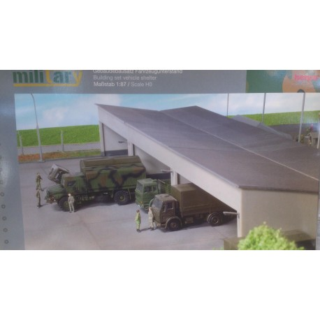 * Herpa 745499  Military or Civilian: Building set vehicle shelter, length 180 mm x width 150 mm x height 75 mm