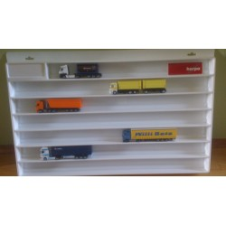 * Herpa Display 029346  Showcase for trailer (overlength), white (27.5 in. x 17.7 in. x 1.4 in.)