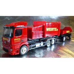 """* Herpa Trucks 307437  Mercedes-Benz Antos garbage container trailer """"Wertz Aachen"""""""