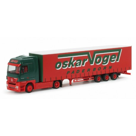 "* Herpa Trucks 151832  Mercedes-Benz Actros LH bulk volume semitrailer ""Oskar Vogel"""