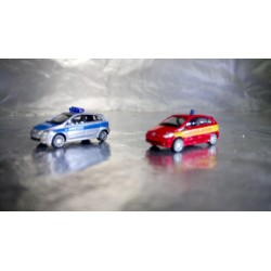 "* Herpa Cars 066549  (Pack of two) Mercedes-Benz B-Klasse ""Police / fire department"""