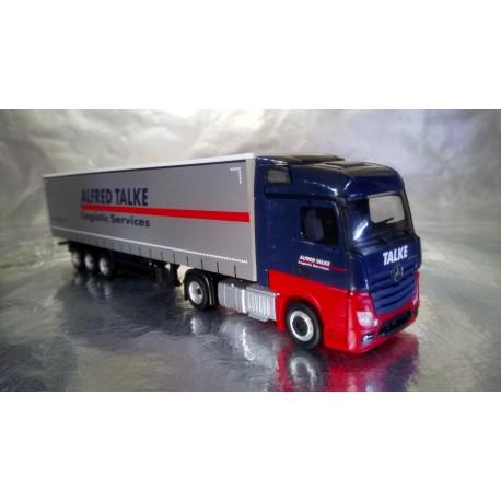 "* Herpa Trucks 307499  Mercedes Benz Actros Streamspace curtain canvas semitrailer ""Talke"""