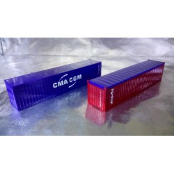 "* Herpa Accessories 076449-004  Container-Set 2x40 ft. ""Triton / CMA/CGM"""