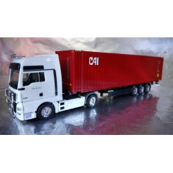 "* Herpa Trucks 076791  45 ft. container semitrailer ""CAI"""