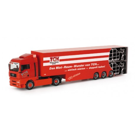 "* Herpa Trucks 152884  MAN TGA XLX two-storied refrigerated box semitrailer ""TCH"""