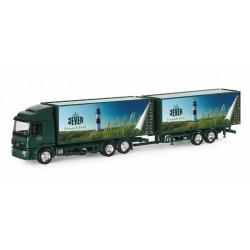 """* Herpa Trucks 153171  Mercedes-Benz Actros LH beverage box trailer """"Jever"""""""