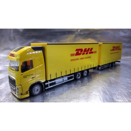 "* Herpa Trucks 307888   Volvo FH Gl. XL bulk volume trailer ""DHL"""