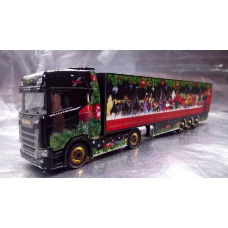 * Herpa Trucks 307789  Scania CS 20 HD box semitrailer Herpa Christmas Truck 2017