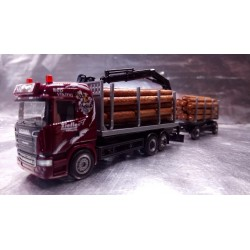 * Herpa Trucks 307840  Scania R HL wood carrier Ziefle Transporte Red Viking