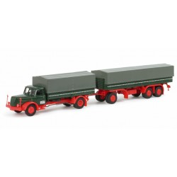 * Herpa Trucks 152150  Henschel HS 140 canvas cover trailer