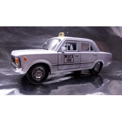 * Welly -  Fiat 126P Poland Taxi - WPT No 1313 White Scale 1:34