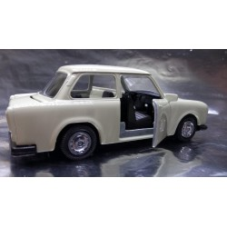 * Welly - Trabant White Cream with opening front doors Scale 1:34
