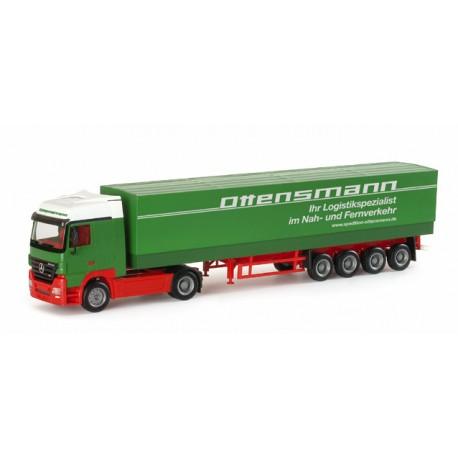 """* Herpa Trucks 151795  Mercedes-Benz Actros LH canvas semitrailer """"Ottensmann"""""""