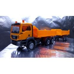 * Herpa Trucks 308090  MAN TGS M Euro 6c construction tandem axle dump trailer