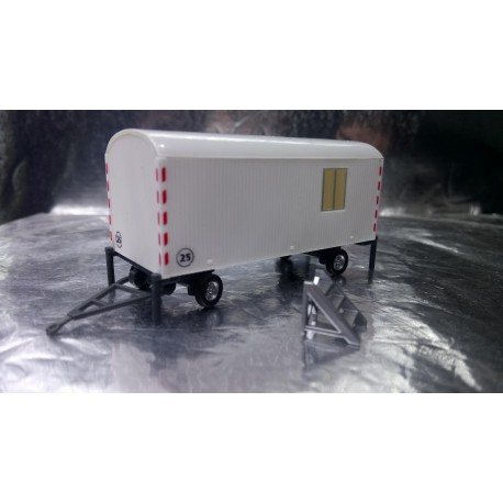 * Herpa Trucks 076395-002  Construction trailer, white with steps