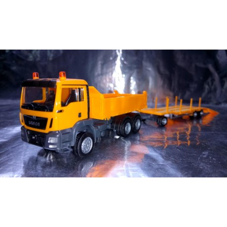 * Herpa Trucks 307918  MAN TGS M dumper 3-axle with Goldhofer TU 3