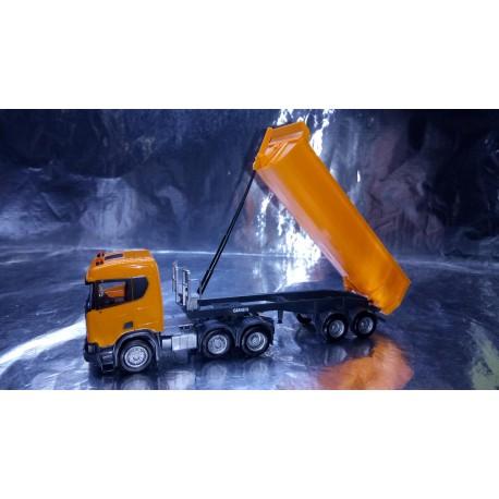 * Herpa Trucks 309394  Scania CR ND XT 6x2 dump semitrailer, communal orange