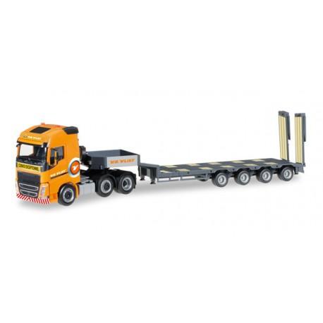 "* Herpa Trucks 306409  Volvo FH Gl. 6x2 semi low boy semitrailer ""v.d.Vlist"" (Holland)"