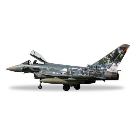 """* Herpa Wings 580168  Luftwaffe Eurofighter Typhoon - TaktLWG 74 """"Cyber Tiger"""""""