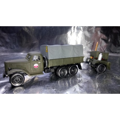 """* Herpa Military 745093  ZIS 151 canvas trailer with field kitchen trailer """"Sowjetarmee"""""""