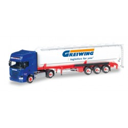 "* Herpa Trucks 306195  Scania R TL ADR Silo semitrailer ""Greiwing"""