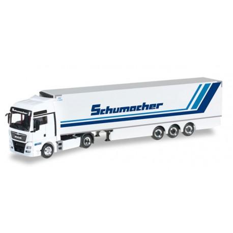 """* Herpa Trucks 306263  MAN TGX XXL Euro6 refrigerated box semitrailer """"Spedition Schumacher"""""""