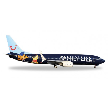 """* Herpa Wings 529433  Jetairfly Boeing 737-800 """"Family Life Hotels"""""""