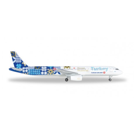 "* Herpa Wings 529532  Turkish Airlines Airbus A321 ""Turkey, Discover Potential"""