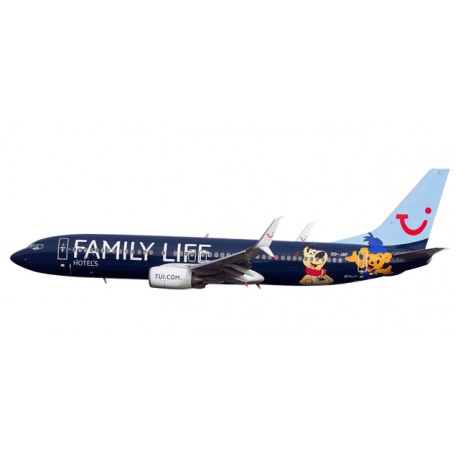 """* Herpa Wings Snapfit 611145  Jetairfly Boeing 737-800 """"Family Life Hotels"""""""