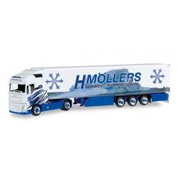 "* Herpa Trucks 306317  Volvo FH Gl. XL refrigerated box semitrailer ""H.Möllers Kühltransporte"""