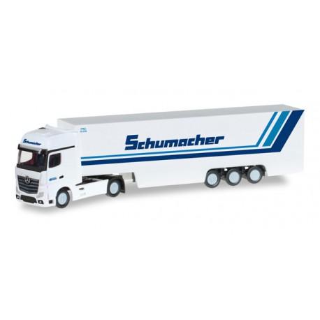 """* Herpa Trucks 066501  Mercedes-Benz Actros Gigaspace box semitrailer """"Schumacher Spedition"""""""