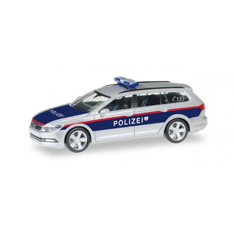 "* Herpa Cars 092609  VW Passat Variant ""Austria Police department"" (A)"