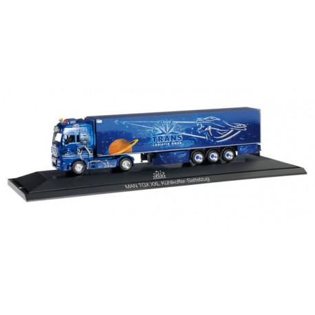 "* Herpa Trucks 121705  MAN TGX XXL refrigerated box semitrailer ""Trio-Trans"""