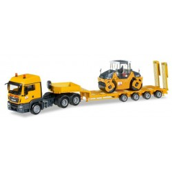 "* Herpa Trucks 305785  MAN TGS LX low boy semitrailer with Hamm tadem roller DV 90 ""Max Bögl"""