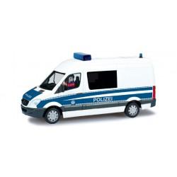 """* Herpa Diorama 461634  Mercedes-Benz sprinter halfbus state police """"DioramaReady"""""""