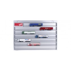 * Herpa Display 029711  Truck showcase European lenght, silver (25.4 in x 17.7 in. x 1.4 in.)