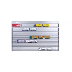 * Herpa Display 029728  Showcase for trailer, silver (overlength: 27.5 in x 17.7 in. x 1.4 in.)