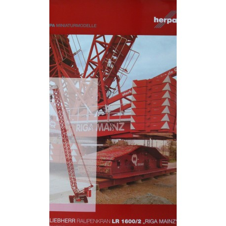 "* Herpa Contruction 304566  Liebherr LR 1600/2 crawler crane ""Riga Mainz"""