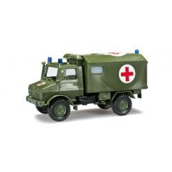 "* Herpa Military 744553  Unimog U 1300 ambulance ""Bundeswehr"""
