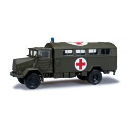 "* Herpa Military 744577  MAN 630 box truck ""Rotes Kreuz"""
