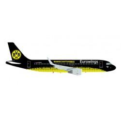 """* Herpa Wings 558167  Eurowings Airbus A320 """"BVB Mannschaftsairbus"""""""