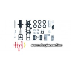 * Herpa Spare Parts 083683  Chassis for rigid tractor Scania R 13 Content: 2 pcs.