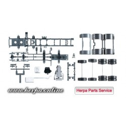 * Herpa Spare Parts 084291  chassis for tractor Mercedes-Benz Arocs 4-axles Content: 2 pieces
