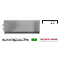 * Herpa Spare Parts 084321  Roll-off dump, flat Content: 2 pieces