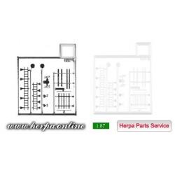 * Herpa Spare Parts 051903  Horns / speakers / roof rack