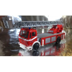 "* Herpa Trucks 092517  Mercedes-Benz Metz turnable ladder DLK ""Buehl fire department"""