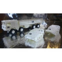 * Herpa Military United Nations Livery Man 454 Truck and 2 Wiesel Vehicles + TOW