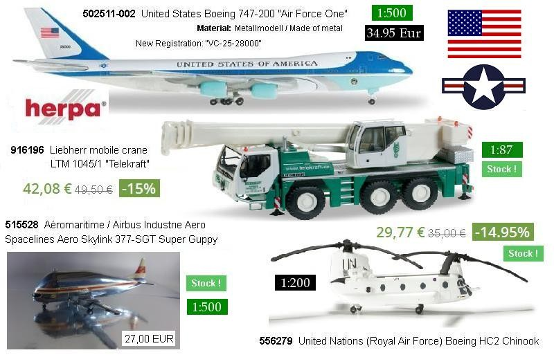 """502511-002  United States Boeing 747-200 """"Air Force One"""""""
